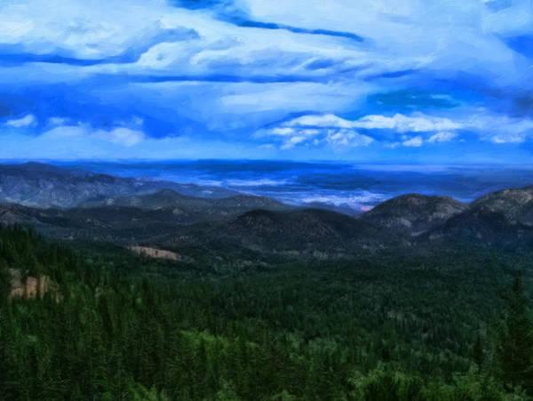 Painting - Pikes Peak Summit by Chris Flees