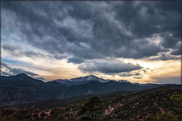 Photograph - Pikes Peak Sunset by Erika Fawcett