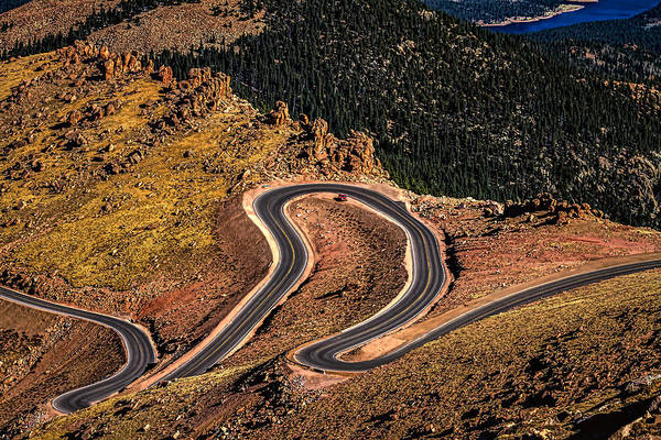 Photograph - Pikes Peak Switchbacks by Ron Pate