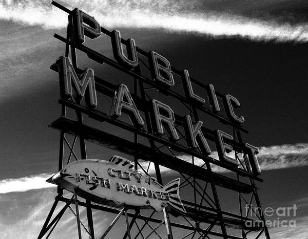Pikes Place Photograph - Pikes Place Market Sign by Nick Gustafson
