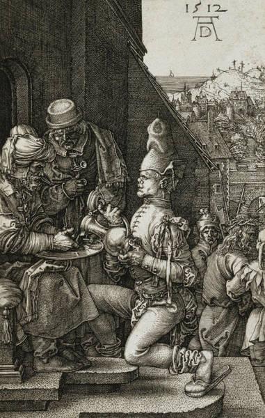 Albrecht Durer Wall Art - Relief - Pilate Washing His Hands by Albrecht Durer