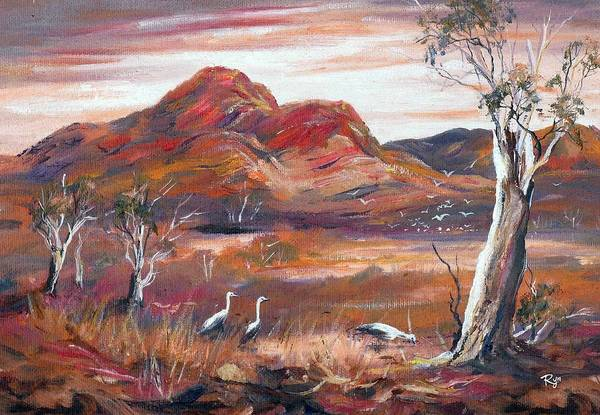 Painting - Pilbara, Outback, Western Australia, by Ryn Shell