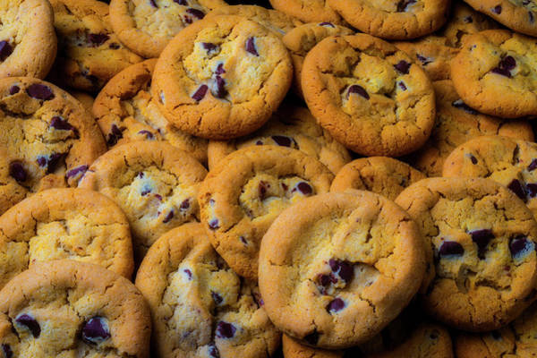 Chocolate Chips Wall Art - Photograph - Pile Of Chocolate Chip Cookies by Garry Gay
