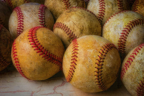 Wall Art - Photograph - Pile Of Old Baseballs by Garry Gay