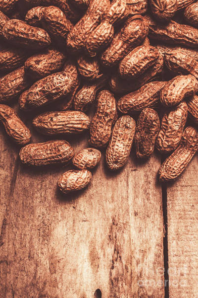Pod Wall Art - Photograph - Pile Of Peanuts Covering Top Half Of Board by Jorgo Photography - Wall Art Gallery