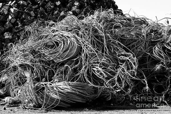 Wall Art - Photograph - Pile Of Processed Metal Cable Non Ferrous Metal Recycling Plant Liverpool Uk by Joe Fox