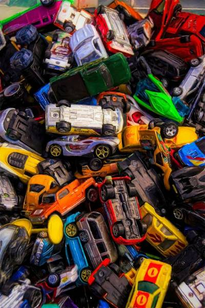 Photograph - Pile Of Toy Cars by Alice Gipson