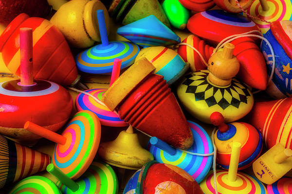 Wall Art - Photograph - Pile Of Toy Tops by Garry Gay