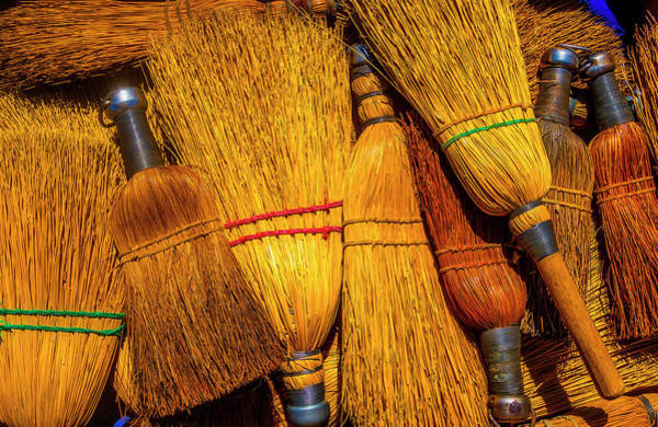 Broom Photograph - Pile Of Whisk Brooms by Garry Gay
