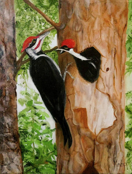 Painting - Pileated Woodpecker by Kathy Knopp