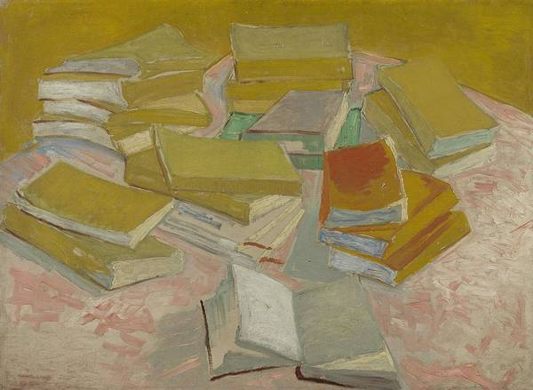 Painting - Piles Of French Novels Paris, October  November 1887 Vincent Van Gogh 1853  1890 by Artistic Panda