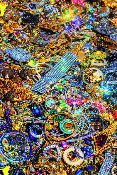 Wall Art - Photograph - Piles Of Vintage Jewelry by Garry Gay