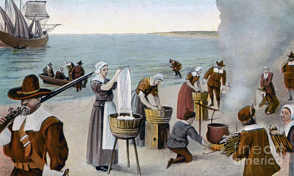Photograph - Pilgrims Washing Day, 1620 by Granger