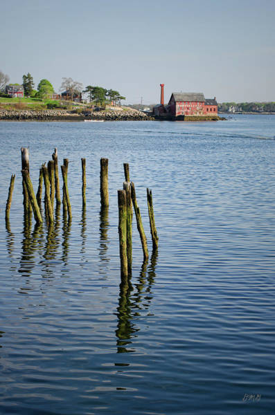 Photograph - Pilings And Paint Factory Gloucester Ma by Dave Gordon