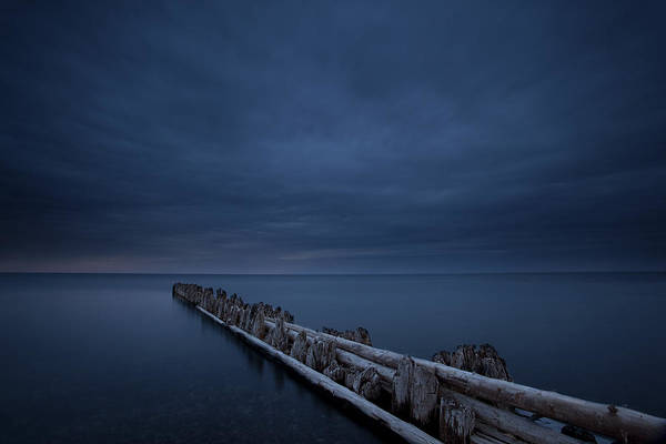 Photograph - Pilings At Crisp Point by CA  Johnson