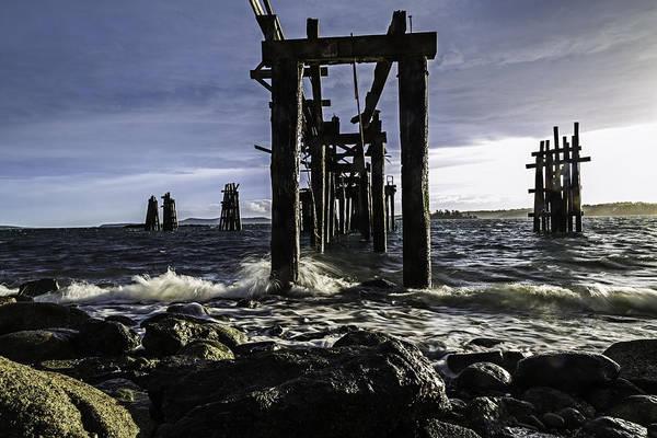 Piling Photograph - Pilings Jackson's Beach  by Thomas Ashcraft