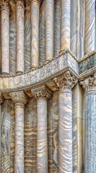 Photograph - Pillars Of Saint Marks Basilca by Gary Slawsky