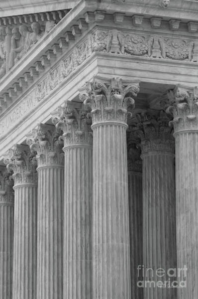 Photograph - Pillars Of The Supreme Court by E B Schmidt