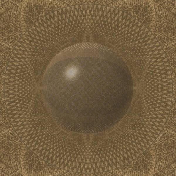 Digital Art - Pillow1-goldtone by Vincent Autenrieb