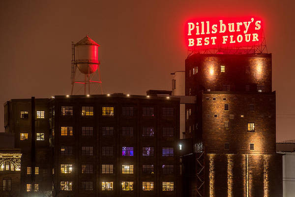 Wall Art - Photograph - Pillsburys Best Flour Sign by Paul Freidlund