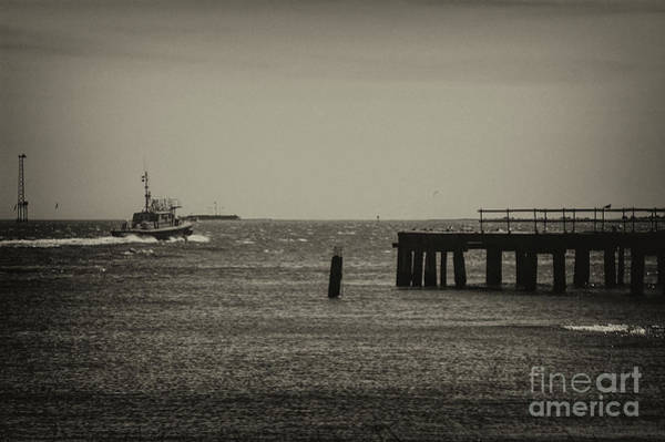 Photograph - Pilot Boat In Route To Incoming Freighter by Dale Powell