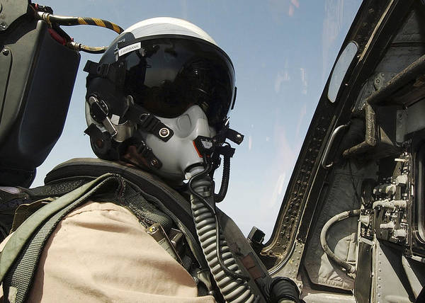 Prowler Photograph - Pilot Performs A Flight Mission In An by Stocktrek Images