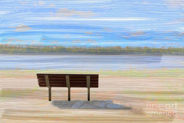Park Bench Digital Art - Pilot Rock by Larry Braun