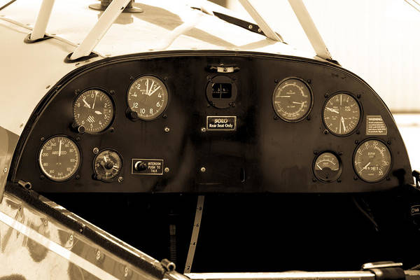 Photograph - Pilots Cockpit by Fran Riley