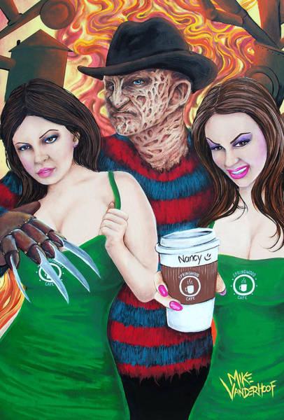 Nightmare On Elm Street Painting - Pimp Freddy by Michael Vanderhoof