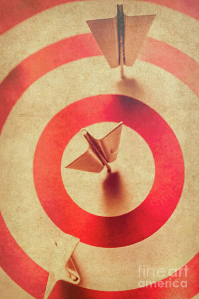 Aspiration Wall Art - Photograph - Pin Plane Darts Hitting Goals by Jorgo Photography - Wall Art Gallery