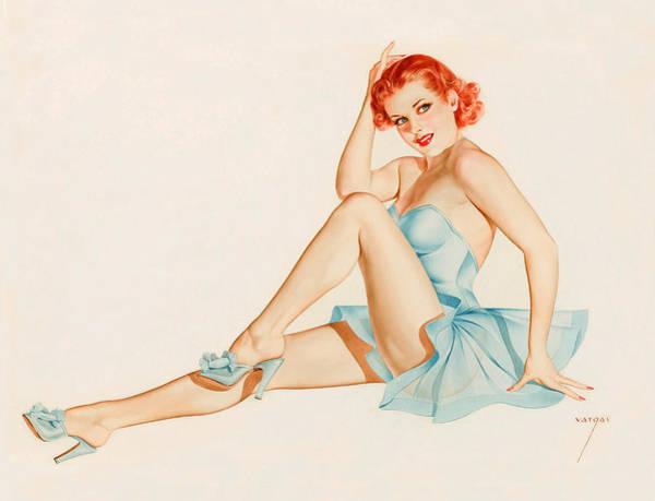 Long Dress Painting - Pin-up Ballerina Pose by Long Shot