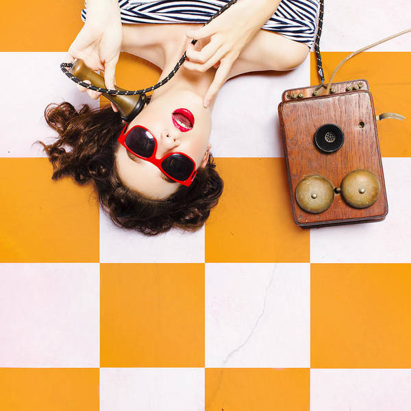 Options Wall Art - Photograph - Pin-up Beauty Decision Making On Old Phone by Jorgo Photography - Wall Art Gallery