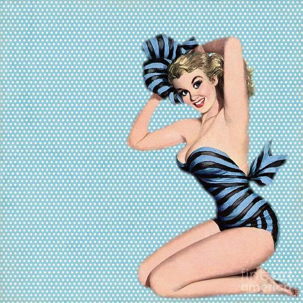 Wall Art - Photograph - Pin Up Girl Square 2 by Edward Fielding
