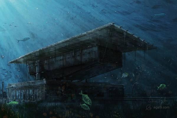 Ocean Scape Digital Art - Pinacoteca by Andrea Gatti