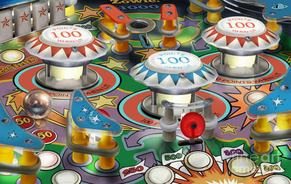 Pinball Digital Art - Pinball by Craig Musselman