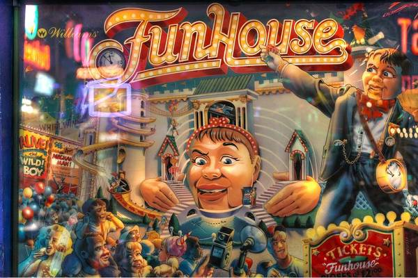 Wall Art - Photograph - Pinball Williams Fun House Vintage by Jane Linders