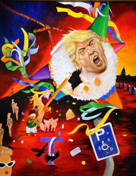 Election 2016 Painting - Pinche Enigma by Juan A Armadillo