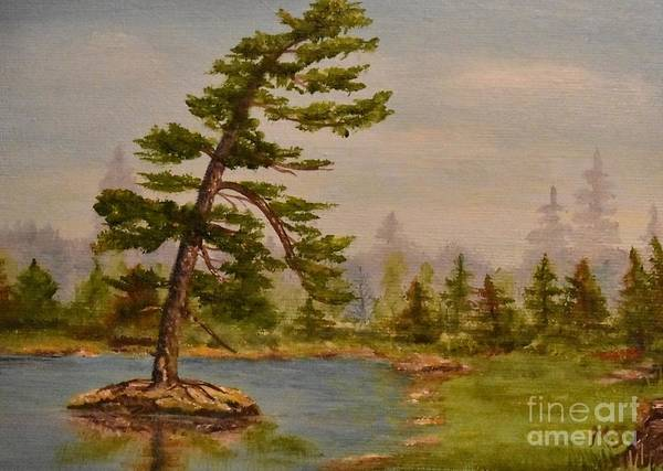Painting - Pine Bent Over Time by Monika Shepherdson