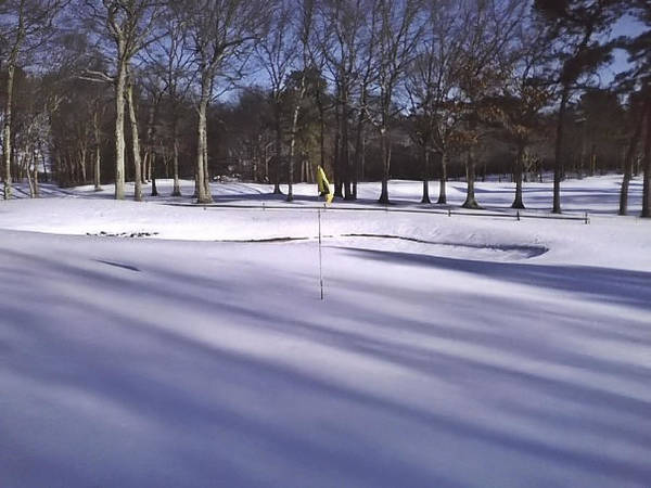 Photograph - Pine Hills Cc Green 3 Snow by  Newwwman
