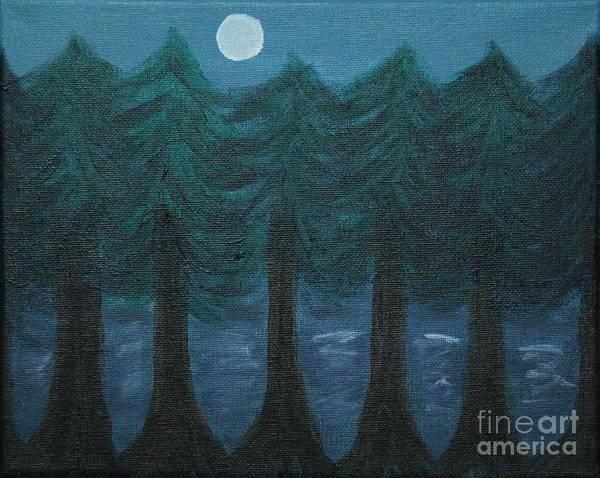 Pine Needles Painting - Pine Tree Lake by Marina McLain