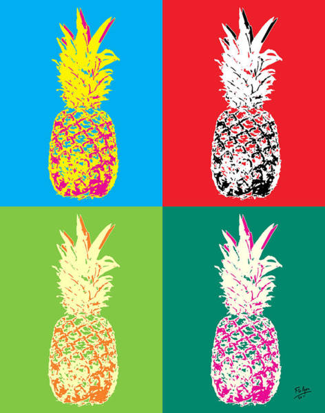Pineapple Painting - Pineapple 33 by Flo Ryan