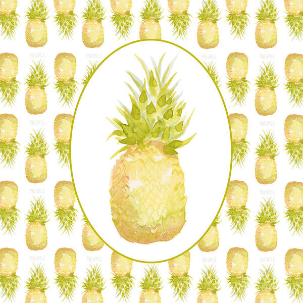 Pineapple Painting - Pineapple Cameo by Cindy Garber Iverson