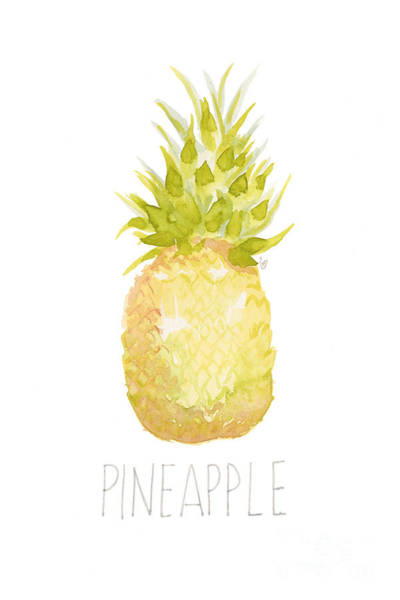 Pineapple Painting - Pineapple by Cindy Garber Iverson