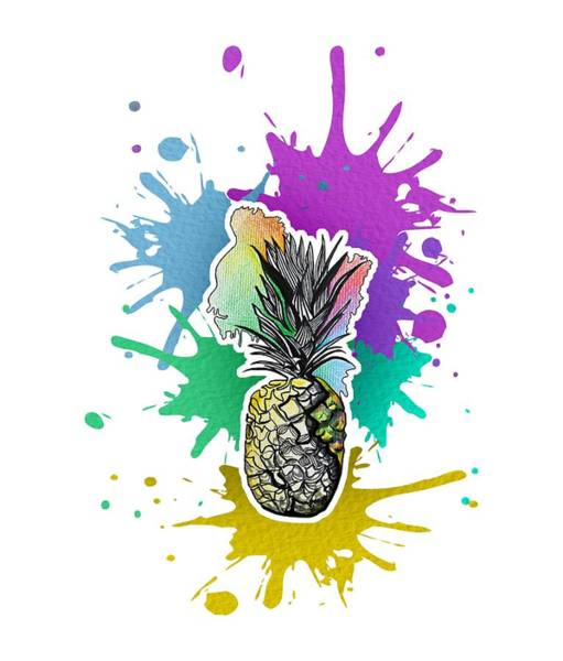 Dude Mixed Media - Pineapple by DuDess DuDe