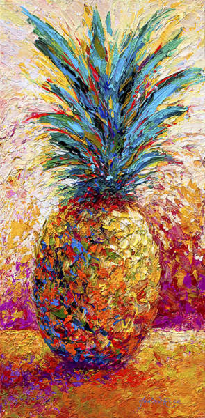 Harvest Wall Art - Painting - Pineapple Expression by Marion Rose