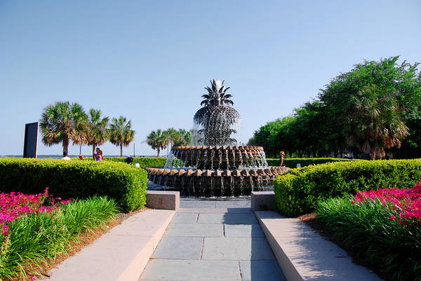 Photograph - Pineapple Fountain In Charleston by Susanne Van Hulst