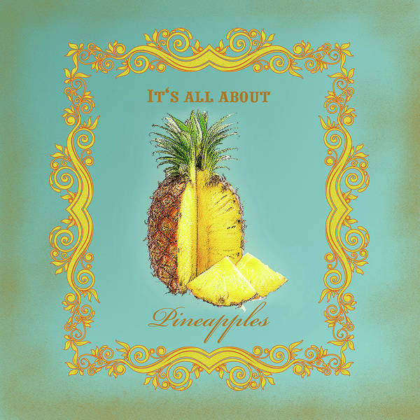 Pineapples Digital Art - Pineapple by Graphicsite Luzern