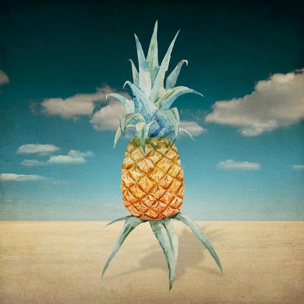 Wall Art - Painting - Pineapple  by Mark Ashkenazi