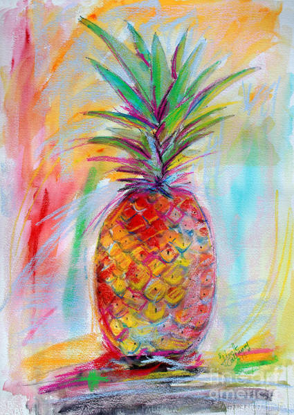 Painting - Pineapple Mixed Media Painting by Ginette Callaway