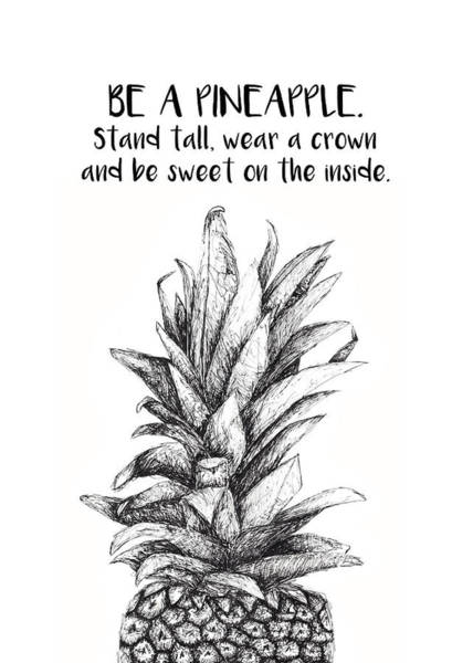 Pineapples Drawing - Pineapple by Nancy Ingersoll